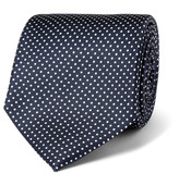 Drake's - 8cm Polka-dot Silk-twill Tie