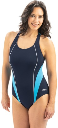 Dolfin Aquashape Color-Block Sporty Crossover 1-Piece Swimsuit