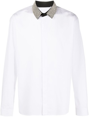 Haider Ackermann Crystal-Collar Dress Shirt