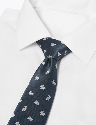 Marks and Spencer Slim Woven Rabbit Tie