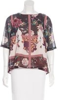 Vineet Bahl Floral Print Embroidered Blouse
