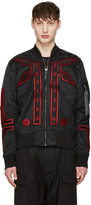 Marcelo Burlon County of Milan Black Alpha Industries Edition Manuel Ma-1 Bomber Jacket