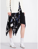 Proenza Schouler Floral-print pleated skirt