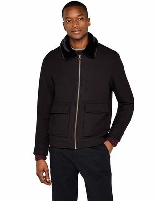 Find. Amazon Brand Men's Wool Mix Borg Collar Harrington Jacket
