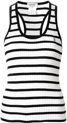 Chanel Pre Owned 1998 Striped Tank Top