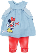 Children's Apparel Network Blue Minnie Mouse Empire-Waist Tee & Leggings - Infant