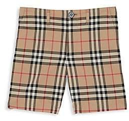Burberry Little Boy's & Boy's Tristen Woven Cotton Check Shorts