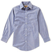 Class Club Gold Label Big Boys 8-20 Denim Non-Iron Button-Front Shirt