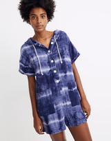 Madewell Warm Tie-Dye Hoodie Romper Cover-Up