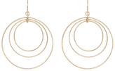 Natasha Accessories Triple Gold Hoop Earrings