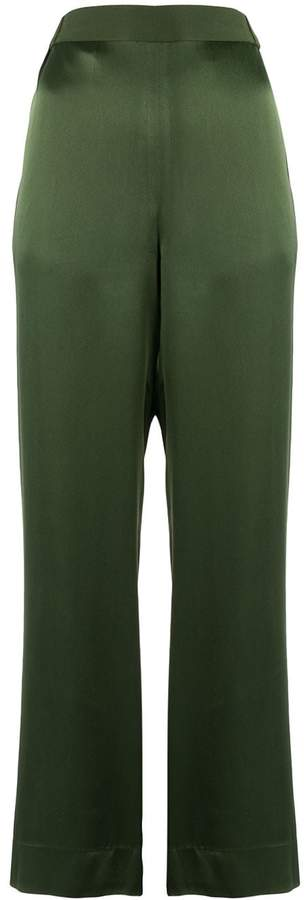 Bouguessa crepe straight leg trousers