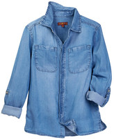 7 For All Mankind Long Sleeve Woven Top (Big Girls)