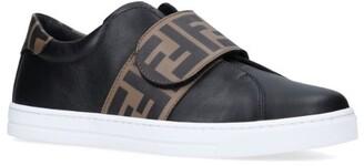 Fendi Kids Fun Furs Strap Sneakers