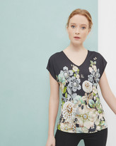 Ted Baker Gem Gardens V-neck T-shirt Black