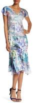 Komarov Flutter Sleeve Midi Dress