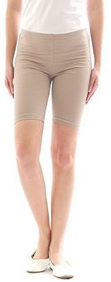 elegance1234 Elegance Ladies Cycling Shorts Lycra Stretchy Cotton Above Knee Active Sport Everyday Short Legging(Medium UK 12 (38)