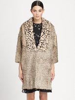 Thakoon Rabbit Fur Coat