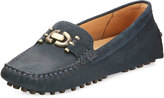 Bernardo Run-Around Suede Driver Shoe, Navy