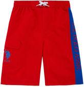 USPA U.S. Polo Assn. Boys Solid Swim Trunks-Big Kid