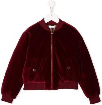 Dolce & Gabbana velvet bomber jacket