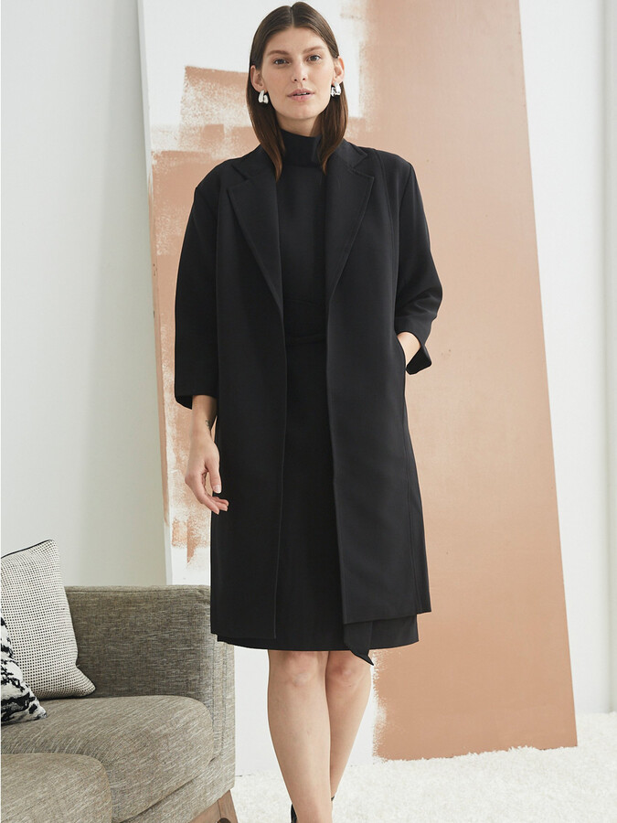 Toccin Cocoon Coat in Jet