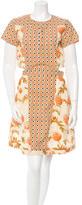 Suno Printed Cutout Dress