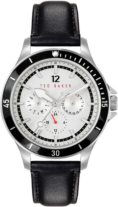Ted Baker Northn Leather Strap Watch, 43mm