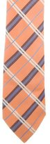 Hermes Plaid Silk Tie