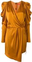Manning Cartell short puff-sleeves wrap dress