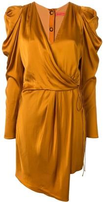 Manning Cartell Australia Short Puff-Sleeves Wrap Dress