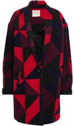 Joie Patchwork-effect Wool-blend Coat