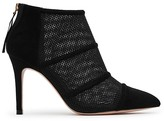 Reiss Devon Mesh and Suede Pointed Toe High Heel Booties