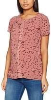 Mama Licious MAMALICIOUS Women's MLNEWELLIE LIA S/S WOVEN TOP NF Maternity T-Shirt, Pink (Desert Sand)