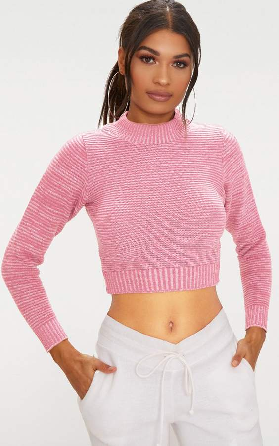 c01cac964ff PrettyLittleThing Pink Cropped Knitwear For Women - ShopStyle UK