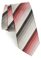 Paul Smith Men's Multistripe Silk Skinny Tie
