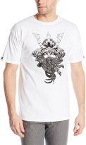 Crooks & Castles Men's Men's Knit Crew T-Shirt - Ronin Medusa