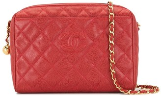 Chanel Pre Owned 1995 Diamond Quilted Chain Shoulder Bag