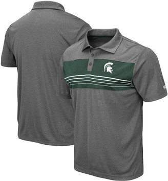 Colosseum Men's Heathered Charcoal Michigan State Spartans Smithers Polo