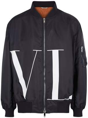 Valentino VLTN Midnight Blue Shell Bomber Jacket