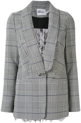 Self-Portrait Houndstooth Check Lace Blazer