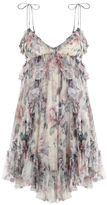 Zimmermann Jasper Floral Ruffle Mini Dress