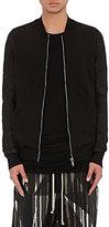 Rick Owens Men's Cotton & Leather Bomber Sweatshirt