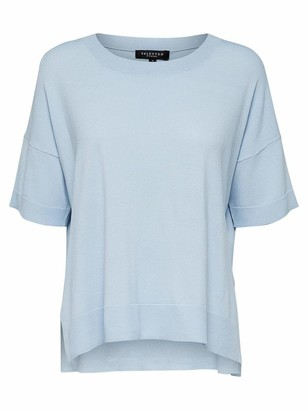 Selected Women's Slfwille Ss Knit O-Neck Noos T-Shirt