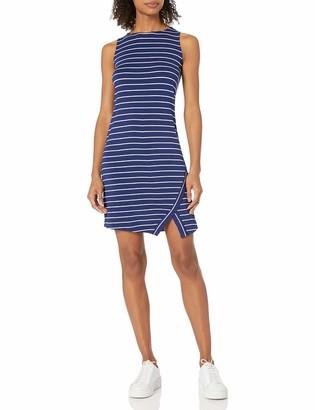 Kensie Women's Light Weight Viscose Spandex Stripe Dress with Slit