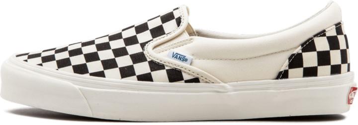 Vans Checkered Slip Ons   Shop the