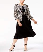 Jessica Howard Plus Size Embellished A-Line Dress & Jacket