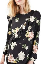 Topshop Women's Floral Ruffle Maternity Top