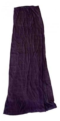 Stefanel Purple Linen Dress for Women