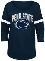 5th & Ocean Women's Penn State Nittany Lions Stripe Sleeve Sweeper Shirt