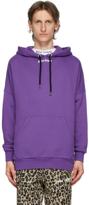 Palm Angels Purple Classic Logo Over Hoodie